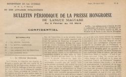 """Accéder à la page """"Bulletin périodique de la presse hongroise"""""""
