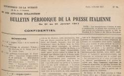 """Accéder à la page """"Bulletin périodique de la presse italienne"""""""