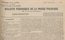 """Accéder à la page """"Bulletin périodique de la presse polonaise"""""""