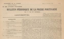 """Accéder à la page """"Bulletin périodique de la presse portugaise"""""""