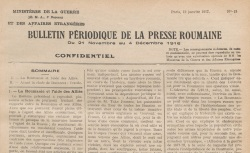 """Accéder à la page """"Bulletin périodique de la presse roumaine"""""""