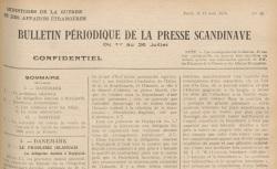 """Accéder à la page """"Bulletin périodique de la presse scandinave"""""""