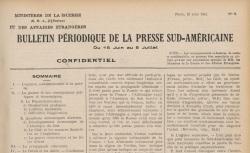 """Accéder à la page """"Bulletin périodique de la presse sud-américaine"""""""