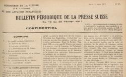 """Accéder à la page """"Bulletin périodique de la presse suisse"""""""