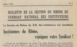 """Accéder à la page """"Bulletin de la section du Rhône du Syndicat national des instituteurs"""""""