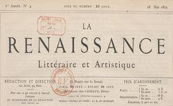 La Renaissance littéraire et artistique n°4 (18/05/1872). Z-2279. Vue 1