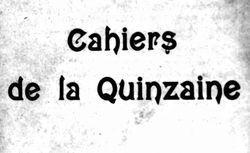 """Accéder à la page """"Cahiers de la quinzaine """""""