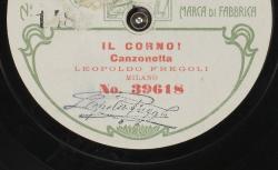 Il Corno ! Canzonetta / [Calzelli], comp ; Leopoldo Fregoli, avec acc. au piano - source : gallica.bnf.fr / BnF