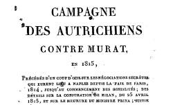 """Accéder à la page """"Campagne des Autrichiens contre Murat en 1815"""""""