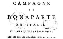"""Accéder à la page """"Campagne de Bonaparte en Italie en l'an VIII"""""""