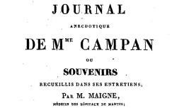 """Accéder à la page """"Campan, Madame, Journal anecdotique"""""""