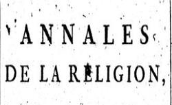 """Accéder à la page """"Annales de la religion (Les)"""""""