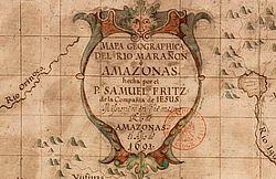 Mapa geographica del rio Marañon o Amazonas, hecha / por el P. Samuel Fritz