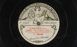 """Carmen. Seguediglia : """"Presso il bastion di Siviglia"""" ; Bizet, comp. ; A. Parsi-Pettinella, mezzo-soprano ; acc. de grand orchestre - source : gallica.bnf.fr / BnF"""