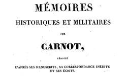 """Accéder à la page """"Carnot, Lazare, Mémoires historiques et militaires"""""""