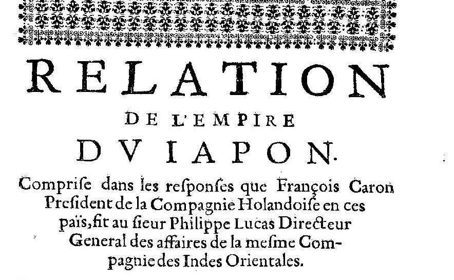 Relation de divers voyages curieux, 2e partie, 1664. G-1459