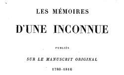 """Accéder à la page """"Cavaignac, Marie-Julie, Les Mémoires d'une inconnue"""""""