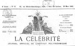 """Accéder à la page """"Célébrité industrielle, artistique et littéraire (La)"""""""