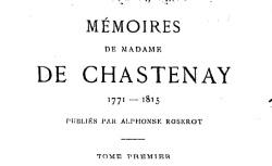 """Accéder à la page """"Chastenay, Madame de, Mémoires"""""""