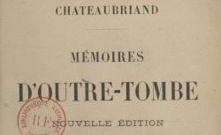 """Accéder à la page """"Chateaubriand, Mémoires d'outre-tombe"""""""