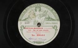 "[Zarzuela] Chateau-Margaux. Vals : ""No sé que siento"" ; Manuel Fernández Caballero, comp. ; Esperanza Clasenti, soprano ; acc. au piano - source : gallica.bnf.fr / BnF"