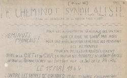 """Accéder à la page """"Cheminot syndicaliste (Le) (Sud-Est)"""""""