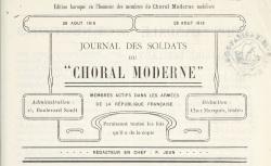 """Accéder à la page """"Journal des soldats du Choral moderne"""""""