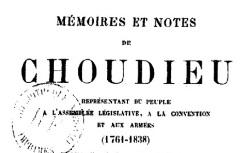 """Accéder à la page """"Choudieu, Mémoires et notes"""""""