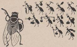 """Accéder à la page """"Dix fables d'animaux : iIllustrations en silhouettes et morales humoristiques aux dépens des humains, ill. Henri Avelot, 1932"""""""