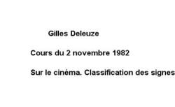 """Accéder à la page """"Sur le cinéma. Classification des signes et du temps"""""""