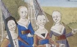 Figure de l'humanisme français: Christine de Pizan a rédigé des poèmes, des traités philosophiques, politiques, et militaires  Citedesdames_fr.609