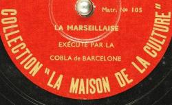 Disque C-10241 - La Cobla est un ensemble instrumental catalan composé de onze musiciens pour douze instruments - source : BnF/gallica.bnf.fr