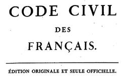 """Accéder à la page """"Code civil des Français"""""""