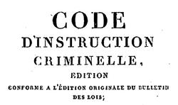 """Accéder à la page """"Code d'instruction criminelle"""""""