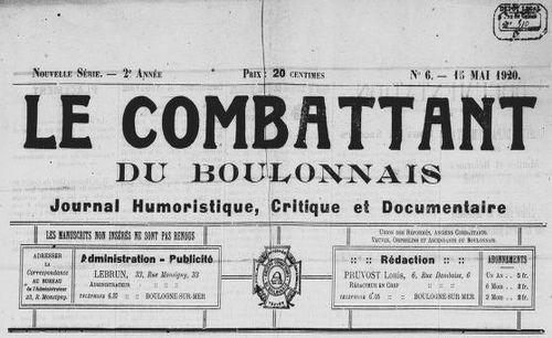 """Accéder à la page """"Combattant du Boulonnais (Le)"""""""