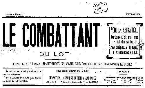 """Accéder à la page """"Combattant du Lot (Le)"""""""