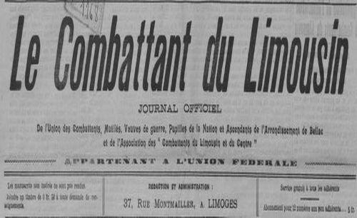 """Accéder à la page """"Combattant du Limousin (Le)"""""""