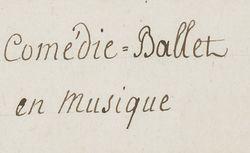 """Accéder à la page """"Comédie-ballet"""""""