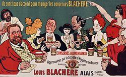 Une congrégation autorisée : c'est celle des gourmands ils sont tous d'accord pour manger les conserves Blachère... [affiche]