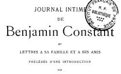 """Accéder à la page """"Constant, Benjamin, Journal intime"""""""