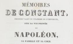 """Accéder à la page """"Constant, Louis-Constant Wairy dit, Mémoires"""""""