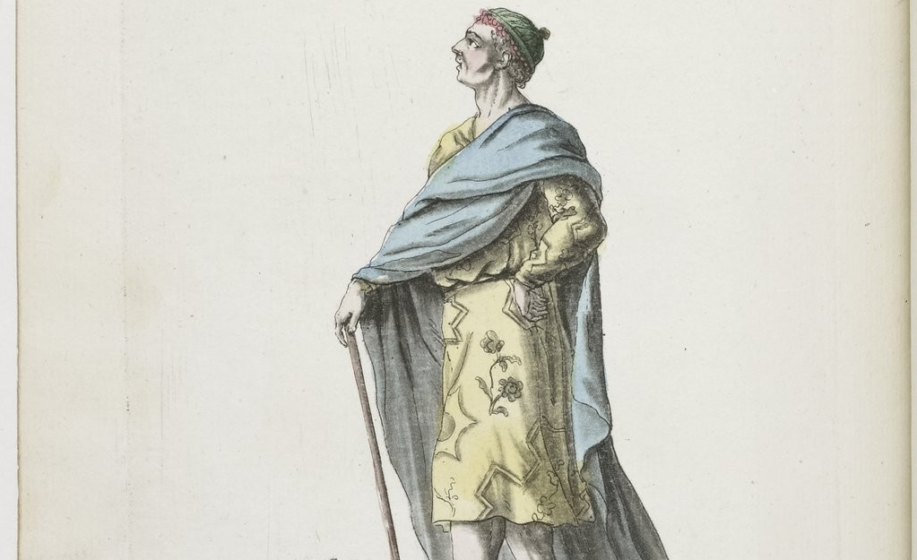 Homme du Japon. Costumes Civils actuels de tous les Peuples connus.1784-88. Arsenal 4-H-7572 (3)