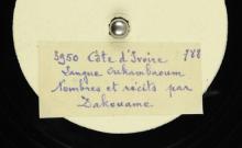 """Accéder à la page """"Nombres et récits / Dakouame, voix"""""""