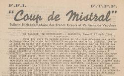 """Accéder à la page """"Coup de Mistral (Vaucluse)"""""""