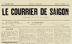 """Accéder à la page """"Courrier de Saïgon (Le)"""""""