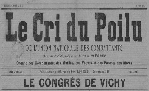 """Accéder à la page """"Cri du poilu de l'Union nationale des combattants (Le)"""""""