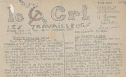 """Accéder à la page """"Cri des travailleurs (Le) (Basses-Alpes et Alpes-Maritimes)"""""""