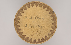 Allocution / Paul Robin, auteur / source : gallica.bnf.fr