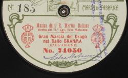 Gran Marcia del Drago nel Ballo Brahma / Costantino Dall'Argine, comp. ; Musica della R. Marina Italiana, dir. M.° Cav. Seba Matacena