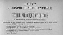 """Accéder à la page """"Recueil Dalloz"""""""